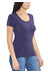 E9 Solid Lady T-Shirt Woman Purple